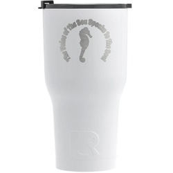 Sea Horses RTIC Tumbler - White - Engraved Front (Personalized)