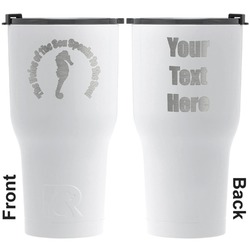 Sea Horses RTIC Tumbler - White - Engraved Front & Back (Personalized)
