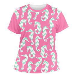 Sea Horses Women's Crew T-Shirt (Personalized)