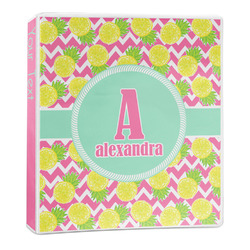Pineapples 3-Ring Binder - 1 inch (Personalized)