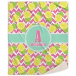 Pineapples Sherpa Throw Blanket (Personalized)