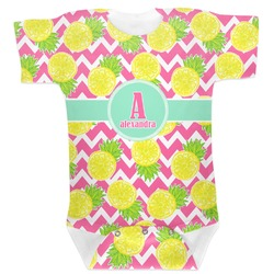 Pineapples Baby Bodysuit 6-12 (Personalized)