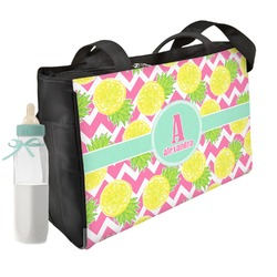 Pineapples Diaper Bag w/ Name and Initial