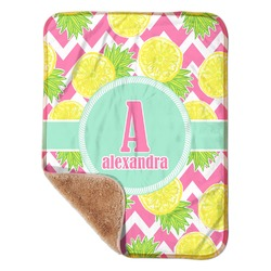 """Pineapples Sherpa Baby Blanket 30"""" x 40"""" (Personalized)"""