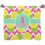 Pineapples Full Print Bath Towel (Personalized)