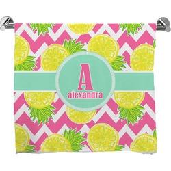 Pineapples Full Print Bath Towel (Personalized)