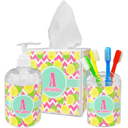 Pineapples Bathroom Accessories Set (Personalized)