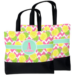 Pineapples Beach Tote Bag (Personalized)