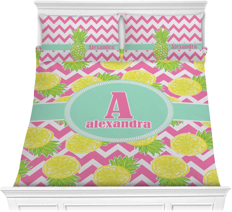 Pineapples Comforter Set Full Queen Personalized