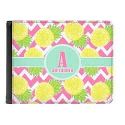 Pineapples Genuine Leather Men's Bi-fold Wallet (Personalized)
