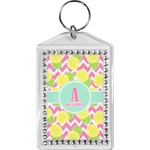 Pineapples Bling Keychain (Personalized)
