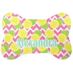 Pineapples Bone Shaped Dog Food Mat (Personalized)
