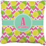 Pineapples Faux-Linen Throw Pillow (Personalized)