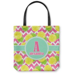 Pineapples Canvas Tote Bag (Personalized)