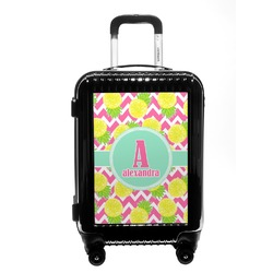 Pineapples Carry On Hard Shell Suitcase (Personalized)