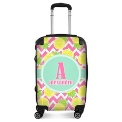 """Pineapples Suitcase - 20"""" Carry On (Personalized)"""