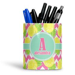 Pineapples Ceramic Pen Holder