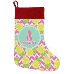 Pineapples Holiday Stocking w/ Name and Initial