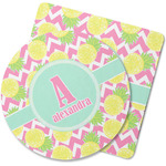 Pineapples Rubber Backed Coaster (Personalized)