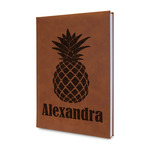 Pineapples Leatherette Journal (Personalized)