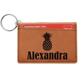 Pineapples Leatherette Keychain ID Holder (Personalized)