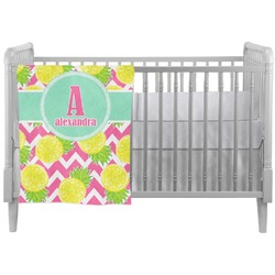 Pineapples Crib Comforter / Quilt (Personalized)