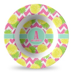 Pineapples Plastic Bowl - Microwave Safe - Composite Polymer (Personalized)