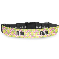 "Pineapples Deluxe Dog Collar - Large (13"" to 21"") (Personalized)"