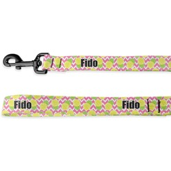 Pineapples Deluxe Dog Leash - 4 ft (Personalized)