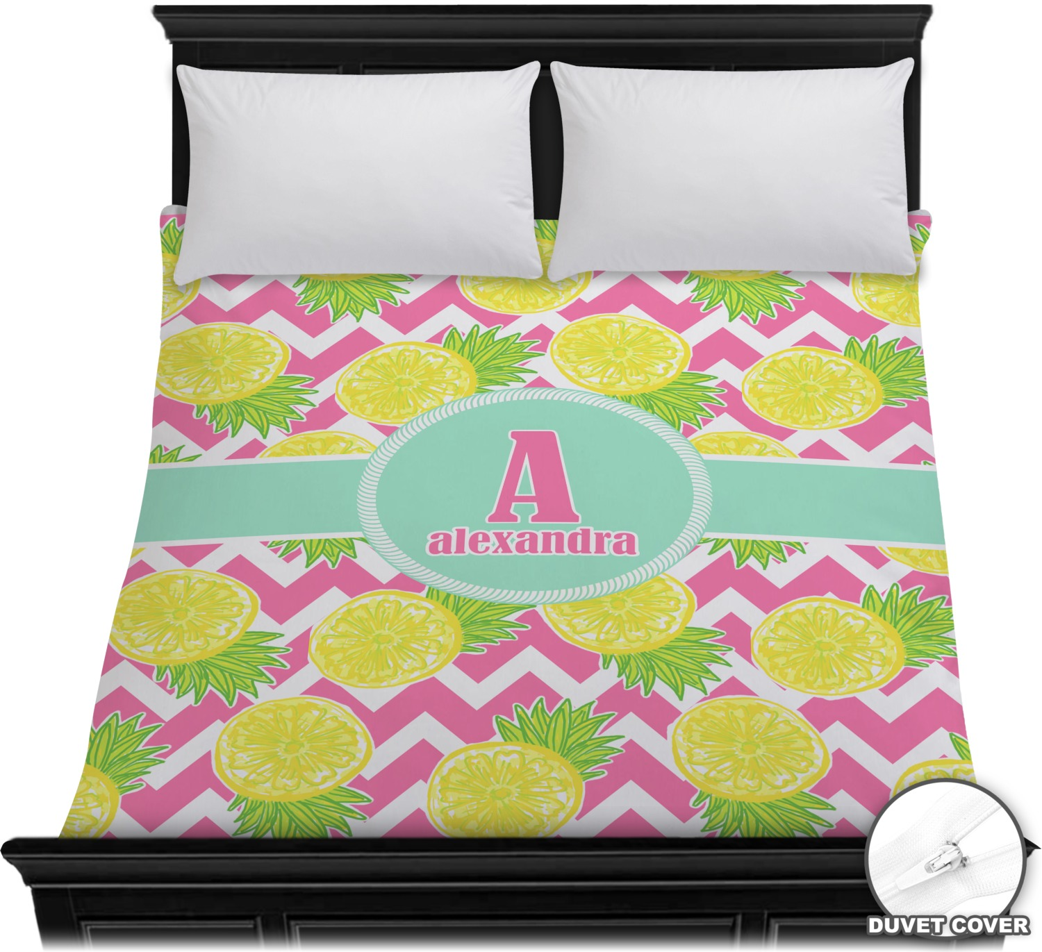 Pineapples Duvet Cover Personalized Youcustomizeit