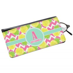 Pineapples Genuine Leather Eyeglass Case (Personalized)
