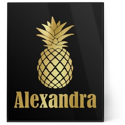Pineapples 8x10 Foil Wall Art - Black (Personalized)