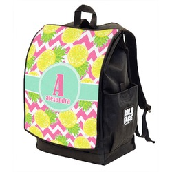 Pineapples Backpack w/ Front Flap  (Personalized)