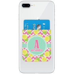 Pineapples Genuine Leather Adhesive Phone Wallet (Personalized)