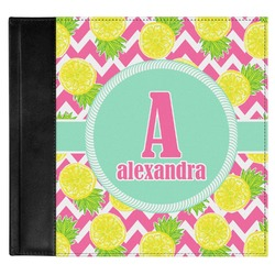 Pineapples Genuine Leather Baby Memory Book (Personalized)