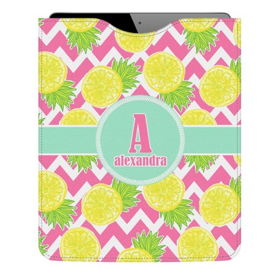 Pineapples Genuine Leather iPad Sleeve (Personalized)