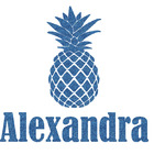 Pineapples Glitter Sticker Decal - Custom Sized (Personalized)