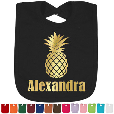 Pineapples Foil Baby Bibs (Personalized)