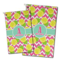 Pineapples Golf Towel - Full Print w/ Name and Initial