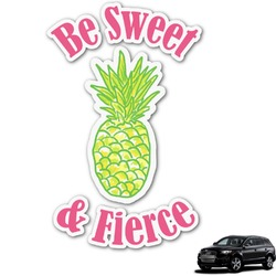 Pineapples Graphic Car Decal (Personalized)
