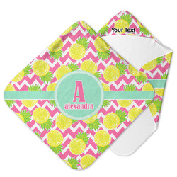 Pineapples Hooded Baby Towel (Personalized)