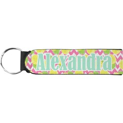 Pineapples Neoprene Keychain Fob (Personalized)