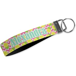 Pineapples Wristlet Webbing Keychain Fob (Personalized)