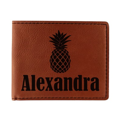 Pineapples Leatherette Bifold Wallet (Personalized)