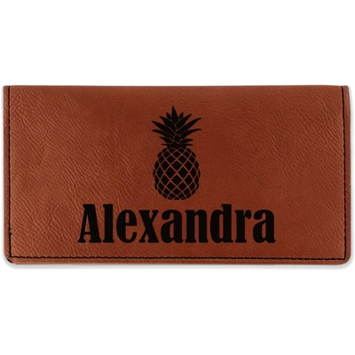Pineapples Leatherette Checkbook Holder (Personalized)