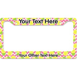 Pineapples License Plate Frame (Personalized)