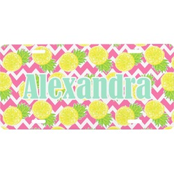 Pineapples Front License Plate (Personalized)