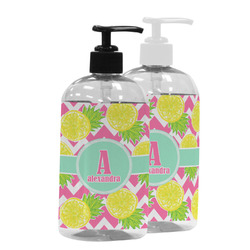 Pineapples Plastic Soap / Lotion Dispenser (Personalized)