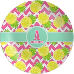 Pineapples Melamine Plate (Personalized)