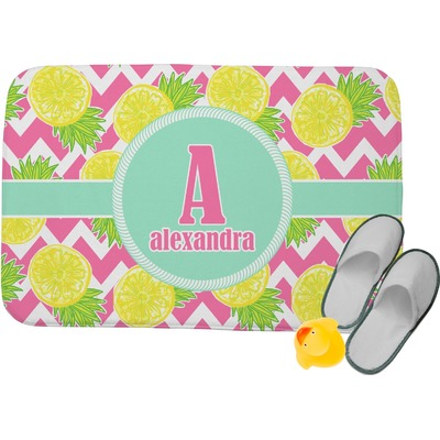 Pineapples Memory Foam Bath Mat (Personalized)